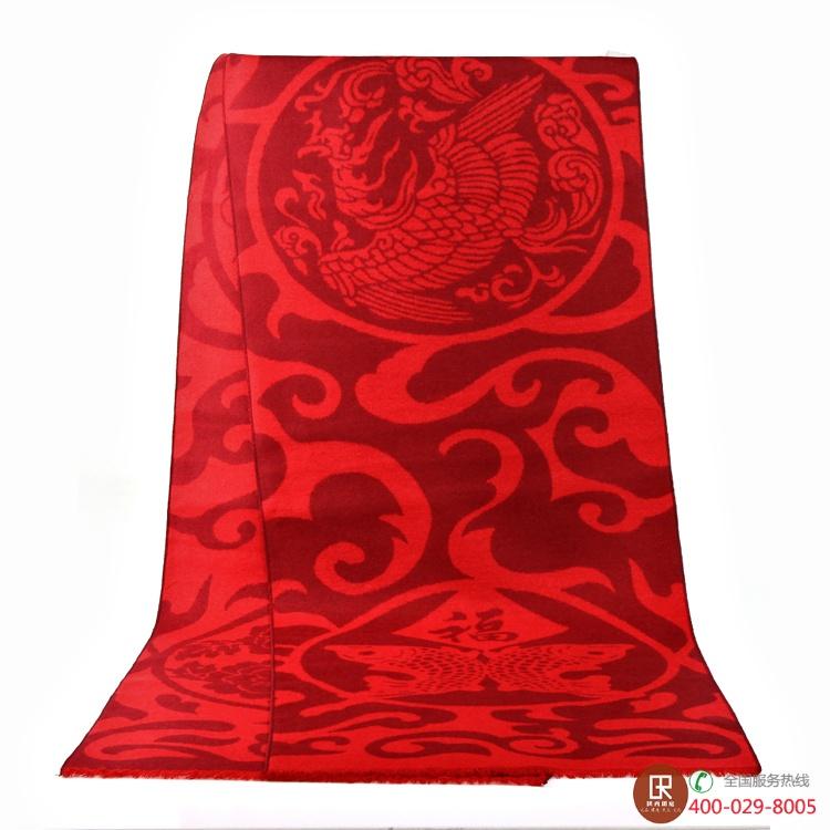 中国红-年年有鱼围巾